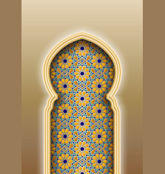 arch with traditional arabic islamic pattern vector image