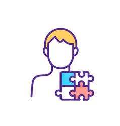 Autism spectrum disorder rgb color icon vector