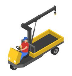 bike crane icon isometric style vector image