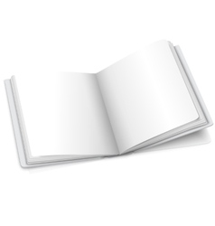 Blank white opened book or photo album vector