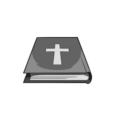 Book of the Bible icon black monochrome style vector image