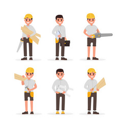 carpenter foreman engineer joiner and vector image