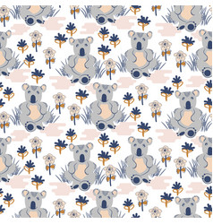 Cute koala animal seamless pattern for baby vector
