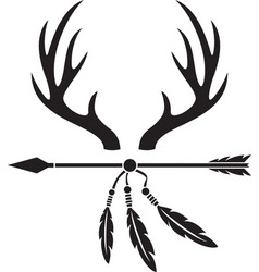 Deer antlers and arrow vector