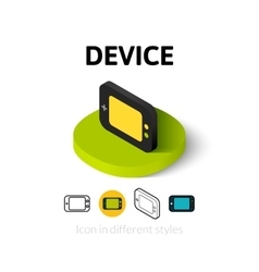 Device icon in different style vector image