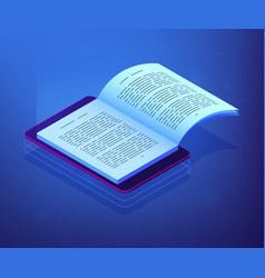 Digital reading isometric 3d concept vector