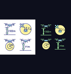 Drone proper control light and dark theme rgb vector