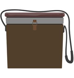 Fishing basket bag angling vector