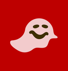 Flat icon stylish background halloween ghost vector