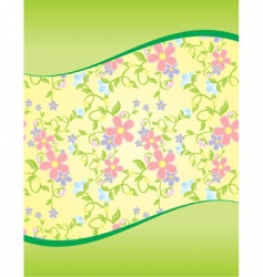 floral wave background vector image