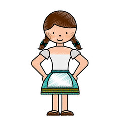 germany girl character icon vector image