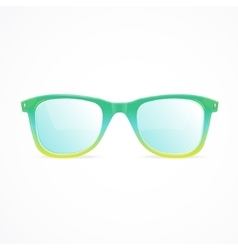 glasses color vector image