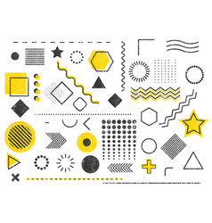 Grunge stamp trendy geometric shape template backg vector