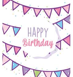 Happy birthday celebration party decoration vector