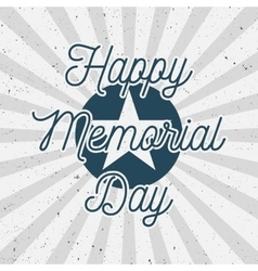 Happy memorial day usa vintage background vector