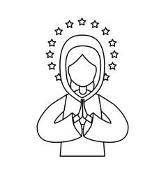 Holy virgin mary icon vector