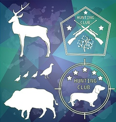 Hunting club design elements vector