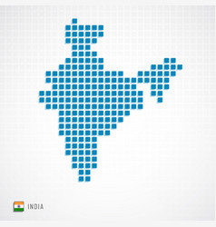 India map and flag icon vector