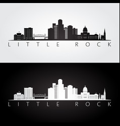 little rock usa skyline and landmarks silhouette vector image