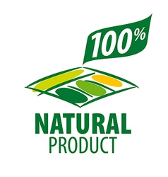 Logo garden beds for 100 natural products vector