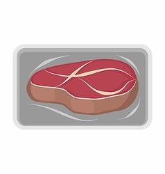 Meat packaging fresh steak of beef vector image