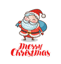 merry christmas greeting card or banner cute vector image