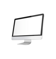 monitor or desktop mock up with blank screen vector image