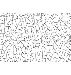 natural cracked texture isolated on white vector image