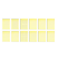 notebooks with yellow paper in lines and dots vector image