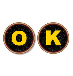 ok typewriter keys vector image