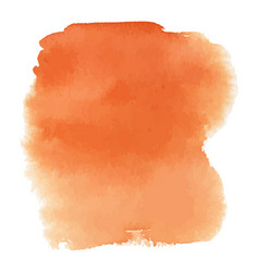 Orange watercolor gradient background vector