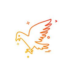 pigeon icon design vector image