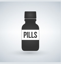 pills bottle icon modern pill bottle for pills or vector image