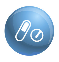 pills pack icon simple style vector image