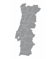Portugal regions map vector