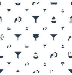 Pouring icons pattern seamless white background vector