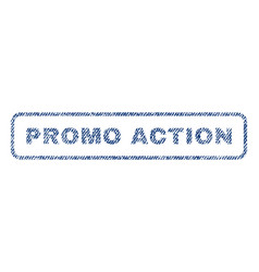 promo action textile stamp vector image