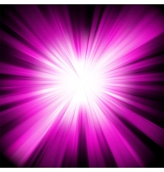 Purple star burst background vector image