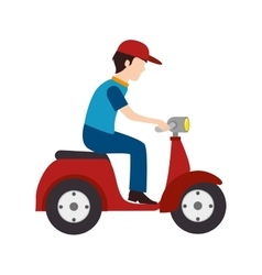 Scooter delivery man vector