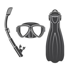 Scuba diving gear vector