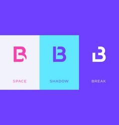 Set letter b minimal logo icon design template vector