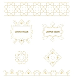 Set of art frames and borders vector