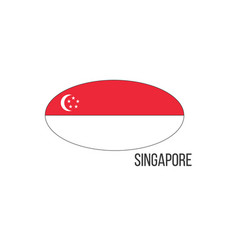 Singapore flag map the flag country in the vector