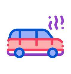 smoking car icon outline vector image