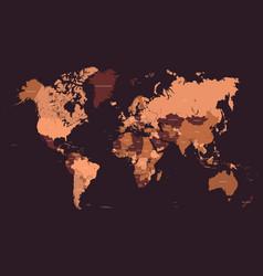 stylized geometric political map world vector image