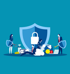 Technology security concept business data vector
