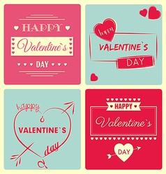 Valentine s Day card - retro vector image