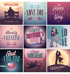 VDay set vector image
