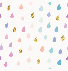 Watercolor drops seamless pattern background vector