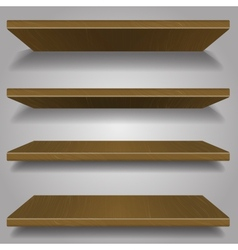 Wood bookshelf design vector